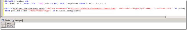 T-SQL for reading the XML data